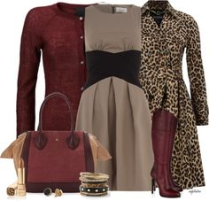 """Cardigan, Dress, Boots Contest #3"" by angkclaxton ❤ liked on Polyvore"