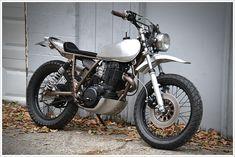 """Yamaha XT500 - """"Single NakedChick"""" - Pipeburn - Purveyors of Classic Motorcycles, Cafe Racers & Custom motorbikes"""