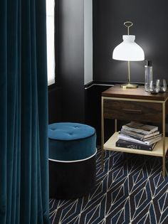 Le Roch Hotel & Spa exudes the glamour of Paris, but embodies the spirit of home. The intimate 37 room boutique hotel instills feelings of warmth, comfort and familiarity. Head to the link in bio for the full feature ✨ Hotel Le Roch Paris, Le Roch Hotel, Pouf Rembourré, Pouf Design, Hotel Carpet, Unique Lamps, Hospitality Design, House And Home Magazine, Hotel Spa
