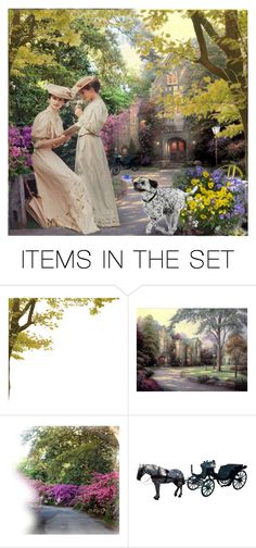 """Victorian Garden"" by cathiemcnally ❤ liked on Polyvore featuring art"