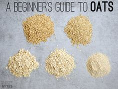 Take the confusion out of selecting oats with this easy to follow guide to oats. Learn how they are made, how they can be cooked, and the different uses for each.