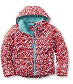 Girls' Bean's Fleece-Lined Down Jacket, Print