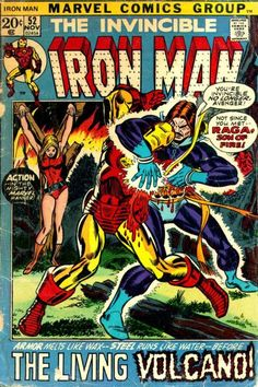 Iron Man #52. The Living Volcano. Cover by Gil Kane & Frank Giacoia.