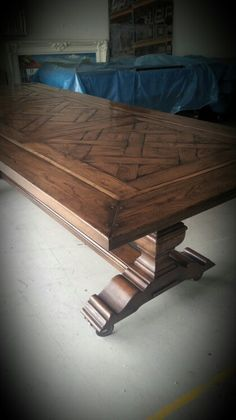 Facet Table By Chatsworth Fine Furniture. Uneven Parquetry, Hand French  Polished Finish. Tasteful