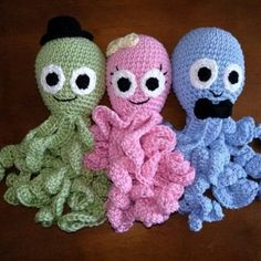 Dica de artesanato: como fazer amigurumi Crochet Fish Patterns, Octopus Crochet Pattern, Crochet Gifts, Cute Crochet, Crochet For Kids, Baby Blanket Crochet, Crochet Baby, Knit Crochet, Preemie Crochet