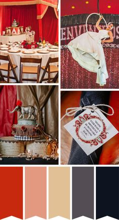 """Roll up, Roll up! We're sharing our The Greatest Showman Wedding Inspiration Palette to help you plan """"The Greatest Show on Earth""""! Prom Themes, Carnival Themes, Circus Theme, Circus Circus, Circus Birthday, Vintage Prom, Vintage Carnival, Vintage Circus Party, Wedding Reception Themes"""
