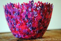 Melted Perler Bead bowl