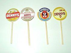 Totem/Topper para Docinho, Cupcake ou Identificação de Prato /  Plaquinha para Identificação de Doces ou Pratos