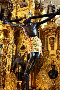 This Black Jesus in the Metropolitan Cathedral in Mexico City is one of many that appear all over South America. These statues are not related to the Black Madonnas of Europe; they are rather the result of a bit of marketing by the Jesuits after...