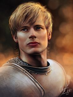 """cosmic-nerd-angel: """" PRINT AVAILABLE Digital painting of Bradley James as King Arthur. I painted Colin as Merlin so I figured I should paint Arthur as well. Watch the video progress here. Rei Arthur, Merlin And Arthur, King Arthur, James Arthur, Merlin Series, Merlin Cast, Bradley James, Series Juveniles, Prince Arthur"""