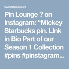 "Pin Lounge 🛋 on Instagram: ""Mickey Starbucks pin. LInk in Bio Part of our Season 1 Collection #pins #pinstagram #lapelpin #pintrading #lapelpins #pinpost #pingame…"" • Instagram"
