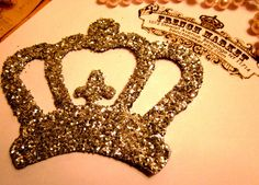 royal wedding handmade invitations (gold crown)