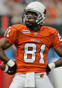 Geroy Simon, BC Lions/ CFL MVP The guy was superman every kid liked him Canadian Football League, American Football, Football Icon, Football Helmets, Justin Harper, Saskatchewan Roughriders, Wide Receiver, Sports News, Lions