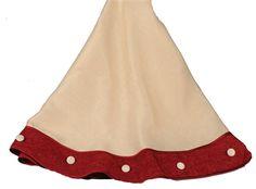"Royal Burlap Tree Skirt Cream & Red 54"""