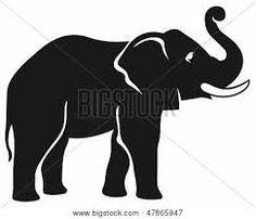 Resultado de imagen de siluetas elefantes