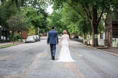 real weddings, wedding photography ideas, outdoor weddings, bride and groom, just married, happy couple, wedding gown, wedding dress, Old Salem