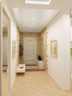 Отделка коридоров и прихожих декоративным камнем