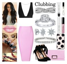 """""""Clubbing"""" by jessicagrewal ❤ liked on Polyvore featuring Zimmermann, Roger Vivier, Gianvito Rossi, Kate Spade and Bobbi Brown Cosmetics"""