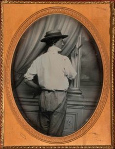 ca. 1855, [daguerreotype portrait of a backdrop painter], Russell A. Miller via the Nelson-Atkins Museum of Art, Photographic Collections