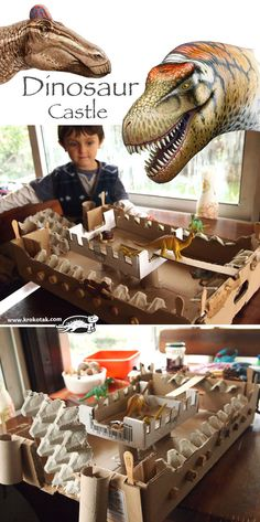 A Castle with Dinosaurs and Knights with Chestnuts