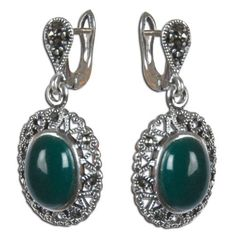 Amazon.com: Handmade Sterling Silver Jewellry from Onyx Gemstone Earrings 1 Inches: ShalinCraft: Jewelry