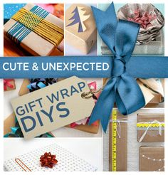 24 Cute And Incredibly Useful Gift Wrap DIYs: including hand-printed, reusable fabric, ultra simple diy gift bag instructions, and confetti accents