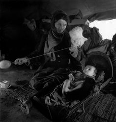 "David Seymour Greece 1948 ""Refugees from the civil war areas"" Magnum Photos"