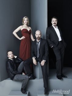 'Breaking Bad' Principals Strike a Pose for THR's Cover Shoot Best Tv Shows, Favorite Tv Shows, Gotham, Serie Breaking Bad, Sherlock, Braking Bad, Anna Gunn, Vince Gilligan, Dragon Ball Z Shirt