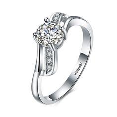 18K Platinum Plated Romantic Brilliant Zircon Costume Ring