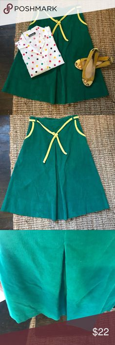 """Vintage Kelly green corduroy a-line skirt Belted corduroy skirt with pockets in great condition. Altered to fit a size 4/6 - 2 darts at waist through hip. Could be removed, but may show ghost stitches. One tiny stain as pictured  Waist: 14"""" Length: 26.5"""" Vintage Skirts A-Line or Full"""