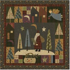 Santa Claus Lane by Jan Patek. I love her quilts and this is one of her kits.