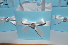 Tiffany blue party favor bags by steppnout on Etsy, $1.25