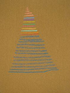 Claudio Paiva - escada do céu, 2002 - lápis de cera s/lixa