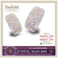 Exhibiting it's magnificent collection of jewels in the Kingdom of Bahrain for over a decade #HazoorilalBySandeepNarang invite you to visit us for yet another spectacular show.  #HazoorilalEvents #Bahrain #Manama #JewelleryArabia2016 #BahrainInternationalConventionCenter #JewelleryShow #BridalJewellery #IndianJeweller #Diamonds #UncutDiamonds #FineJewelry #ItcMaurya #DlfEmporio #HazoorilalJewellersGK #Hazoorilal
