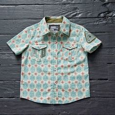 Boys printed dress shirt from thegoodones.com