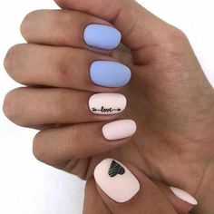 New Collections of Best Valentine& Day Nail Art Design Nail Art Designs, Elegant Nail Designs, Elegant Nails, Nails Design, Purple Manicure, Pink Nails, Red Nail Art, Pin On, Heart Nails