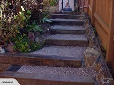 What are some good railroad ties for landscaping steps?