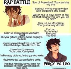 Percy won, because water actually defeats fire ;)