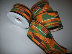 Kente ribbon per yard/ African print ribbons/ by tambocollection, $2.75