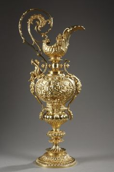 A 19th century French gilded bronze ewer in Renaissance style  I want little things like this all I've r,y house