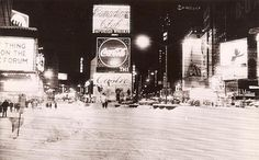 1967 TIMES SQUARE vintage photo SNOW Blizzard Coca Cola NYC new york city