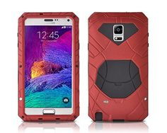 Pugo Top® Samsung Galaxy Note 4 Case Waterproof Case for Galaxy Note 4,aluminum +Tempered Glass + Silicon (Red) Pugo Top http://www.amazon.com/dp/B00Q290D8W/ref=cm_sw_r_pi_dp_zj1Tub0C63BWX