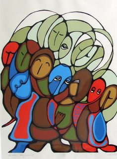 Daphne Odjig - original works available from Gilmore Gallery of the Arts - Daphne Odjig Four Decades of Prints, Daphne Odjig, Woodlands School, Small Drawings, Inuit Art, Native American Artists, Canadian Art, Indigenous Art, Native Art, First Nations