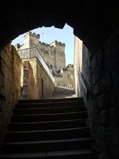 The Castle Keep from near the top of Castle Stairs, Newcastle, UK