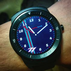 Valtteri Bottas #77 Williams Martini Racing F1 watch face. Private side project. #analog #watchface #smartwatch #wearable #androidwear #lggwatchr #moto360 #design #apparel