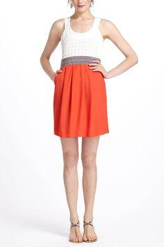 Cute textures and color blocking dress  Arihi Dress - Anthropologie.com