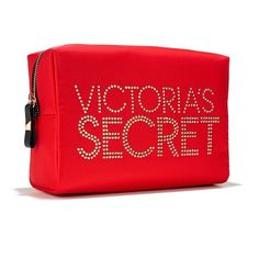 VS red studded big bag Nwt, view pics for details, only selling, red w studs that shine with light Victoria's Secret Bags Cosmetic Bags & Cases