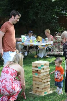 Better Jenga idea-lol 6 Ideas for Creative Backyard Play this summer - these are some awesome activities! Outside Games, Outside Activities, Outdoor Activities, Summer Activities For Toddlers, Games For Kids, Toddler Activities, Family Games, Backyard Games Kids, Backyard Play
