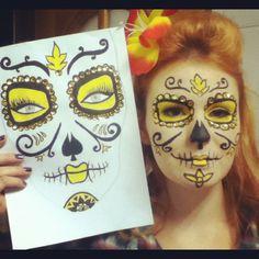 Camila Cattucci - Mexican Skull Makeup by Marília Martins - Maquiagem de Caveira Mexicana  http://www.alexandraspallicci.com.br/?p=2221