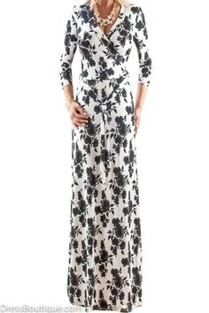 Black and White Floral Maxi Dress.